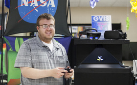 Communications key for NASA intern Stuart Collins