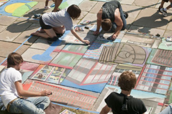 Annual Chalk Festival at CMA Features CIA Artists