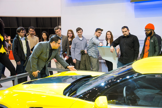 Corvette designer returns to teach, show his latest work