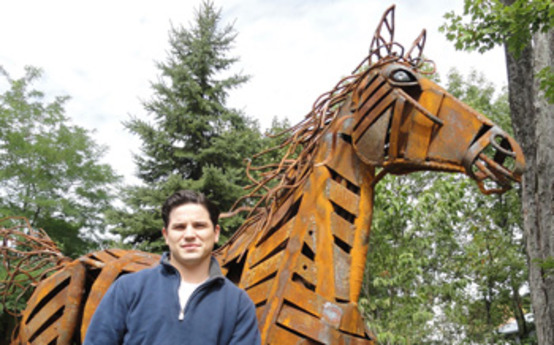 Sculpture Student Completes Commissioned Work
