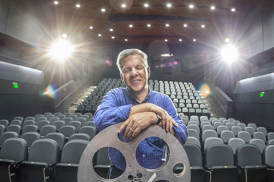 Cinematheque Director John Ewing in the Peter B. Lewis Theater