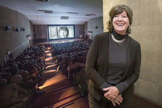 Acress Mary Badham, who played Scout Finch in To Kill a Mockingbird at a screening of the film in the Cinematheque