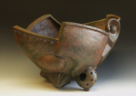 <strong>&quot;Mesabi&quot;</strong><br />William  Brouillard, 2000<br />Red earthenware, fired to cone 04 oxidation, 20&quot;x34&quot;19&quot;
