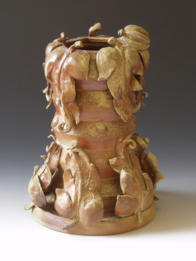 <strong>&quot;Leaf Vase&quot;</strong><br />William Brouillard, 2012<br />Stoneware clay fired to cone 11 in an anagama style wood burning kiln