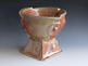 <strong>&quot;Machine Age Punch Bowl&quot;</strong><br />William Brouillard, 2010<br />Stoneware clay, shino glaze , fired to cone 10 reduction, 22&quot;x19&quot;x19&quot;